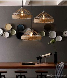 Tom Rustic Vintage industrial Flos Pendant lamps Loft chandeliers MS Iron Pendant Lamps living room led ceiling lights Mall Retro E27 ty-034