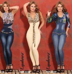 Pathy Modas: Enterizo jean colombiano levanta cola.