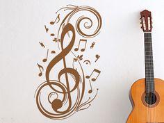 Nettes Wandtattoo für Musikfans!
