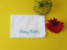 Funny Handkerchief Classy Bitch Embroidered Funny Gift