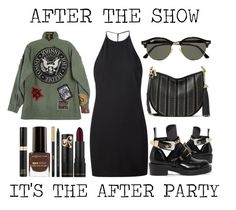 """After The Show It's The After Party"" by latoyacl ❤ liked on Polyvore featuring IRO, Balenciaga, Max Factor, Ray-Ban, Tom Ford and Yves Saint Laurent"