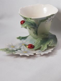 Ladybug Tea Cup and Saucer