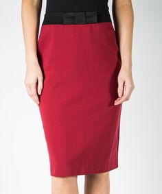 Loving this Biking Red & Black Tie Skirt on #zulily! #zulilyfinds