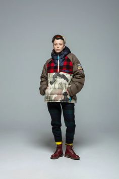 The third collaboration between Woolrich and Griffin focuses on sustainability through a trio of creative approaches. Jacket Style, Streetwear Fashion, Winter Coat, Parka, Camouflage, Lounge Wear, Winter Jackets, Menswear, Mens Fashion
