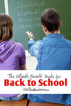 The Ultimate Parent's Guide for Back to School | Great tips to start the school year off right! {OneCreativeMommy.com} Organization, Crafts, Printables and more! #TriplePFeature