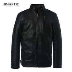 5fc358ea0 Leather Jacket Men Stand Collar Brand New Men s leather PU Jackets +  Locomotive style Men s Slim Fit Leather Male Clothing-in Faux Leather Coats  from Men s ...