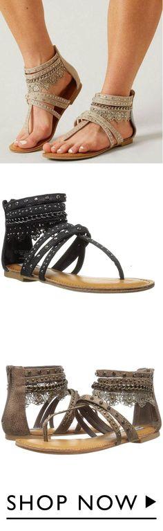 30f3f2c8a Fashion Open Toed Plain Cross Strap National Flat Sandal