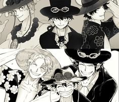 Sabo, Luffy and Ace