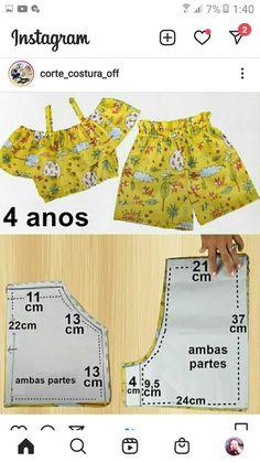 Toddler Sewing Patterns, Kids Dress Patterns, Baby Clothes Patterns, Baby Sewing, Fashion Sewing, Kids Fashion, Sewing Ruffles, Baby Frocks Designs, Little Girl Dresses