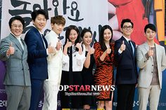 15 Photos of the Come Back, Mister cast goofing off at their press conference