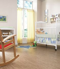 Project Nursery - Cork Flooring in Nursery