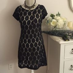 """Xhilaration Lace dress size M Xhilaration Lace dress size M. Few time wore. Not too fit so comfortable and cute. 34"""" long from shoulder. Xhilaration Dresses Mini"""