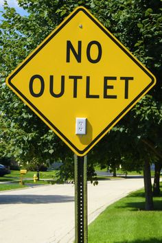 So perfect! Growing up I actually thought these signs meant the houses had no outlets. Lol