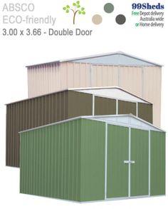 Garden Sheds 3m X 3m spanbilt smartlocker garden shed $1,977 • 20 year warranty. so