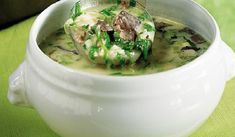 Madata.GR - Παραδοσιακή μαγειρίτσα αυγολέμονο Ethnic Recipes, Food, Essen, Meals, Yemek, Eten