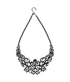 Black Elegant Necklace. Goes well with gowns and deep neck dresses.