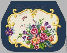 View album on Yandex. Mini Chair, Diy Clutch, Embroidered Bag, Needlepoint, Crochet, Needlework, Cross Stitch, Miniatures, Wool