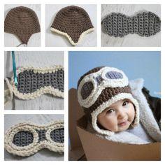 Crochet Aviator Hat with Free Pattern