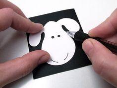 Húsvéti bárányok papírgurigából és fonállal bevonva