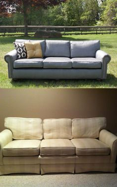 http://uniquelyanew.com    Custom designed refurbished couch.  Upcycling