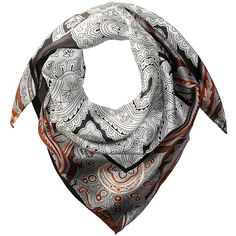 Echo Design Everest Paisley Silk Square (Black) ($45) ❤ liked on Polyvore featuring accessories, scarves, paisley bandana, silk scarves, square silk scarves, pure silk scarves and echo design scarves