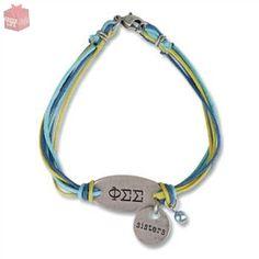 Phi Sigma Sigma Sisters Bracelet