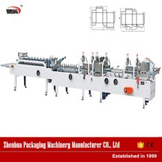 Automatic Bottom lock Packing carton box paper folding and gluing machine