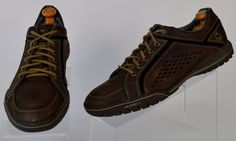Merrell Auckland Brown Distressed Leather Shoes Mens 10.5 Medium Ex Used  #Merrell #FashionSneakers