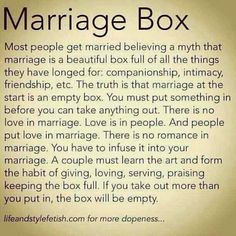 Marriage Box - love this :)