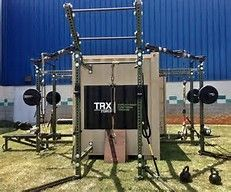 No safety brackets? Home Gym Design, Trx, No Equipment Workout, Wardrobe Rack, Furniture, Cross Training, Home Decor, Safety, Container