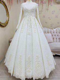 Muslim Wedding Gown, Wedding Evening Gown, Evening Gowns, Wedding Gowns, Weeding Dress, Hijab Fashion, Chiffon, Karma, Brides