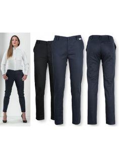 Pantaloni Donna Lavoro Neri o Blu Slim Fit P99D