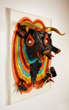 AJ Fosik's New Wooden Sculptures Jump Off the Canvas - My Modern Metropolis