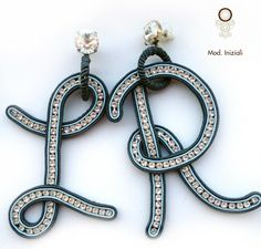 Giorno 10 Colpi di Fulmine: GIOYA Soutache Pendant, Soutache Earrings, Bead Earrings, Beaded Necklace, Bead Embroidery Jewelry, Beaded Embroidery, Wire Jewelry, Jewelry Crafts, Jewellery