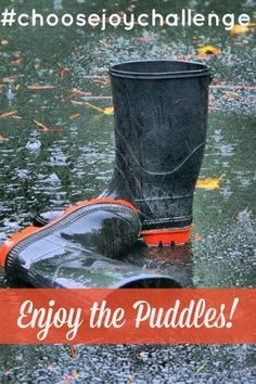 I want to show my kids that the rain may put a damper on our day, but that we can stop and enjoy the puddles. I want to show them that the puddles in life, may just be part of our path. A stone that we may one day see as God's long term plan for our life.