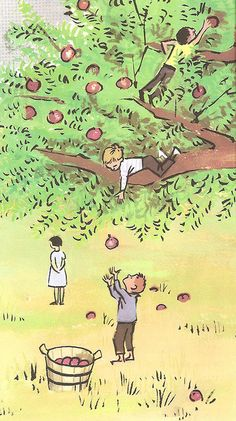 A Tree Is Nice by Janice May Udry w/ illustrations by Marc Simont. He feels like he's influenced in part by Jules Feiffer.