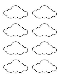 Small cloud pattern. Use the printable outline for crafts, creating stencils…