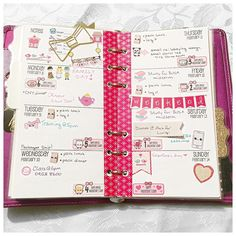Here's a look at my weekly spread on my personal Filofax. . . It's been a while but I've been using my Filofax and medium kikki k more than my EC life planner recently. More convenience for everyday use.  #filofax #kikkik #kikkilove #weeklyspread #planneraddict #plannernerd #plannergirl #stickers #eclp by twopeasinaplanner
