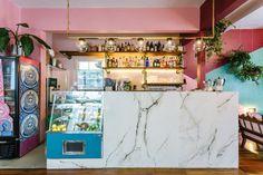 Image 2 of 17 from gallery of Botanique Café. Photograph by Eduardo Macarios Café Bar, Cute Kitchen, Moca, Cafe Design, Interior Design, Environmental Design, Cafe Restaurant, Retail Design, Fun Projects