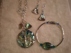 Abalone Set....SOLD to a dear friend.   One of my favorite sets.