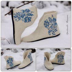 Валяные тапочки,валенки,валяная обувь. Felting,wool