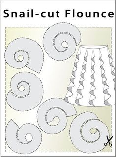 Snail-Cut Flounce - Best Sewing Tips Sewing Hacks, Sewing Crafts, Sewing Projects, Sewing Tips, Sewing Tutorials, Techniques Couture, Sewing Techniques, Skirt Patterns Sewing, Clothing Patterns