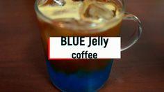 시원한 큐라소 블루 젤리 커피 만들기! Blue Jelly coffee