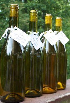 Make homemade apple wine using frozen apples.