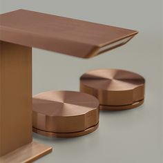 FREE IDEAS COPPER finishes handles: top controls GIOTTO collection combined with BAR collection spout