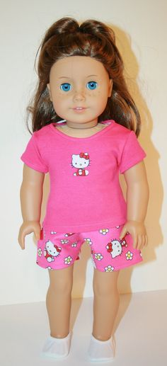 American Girl Doll Pjs/ Pajamas/ Shorts/ by AbbyRoseDollClothes, $8.50