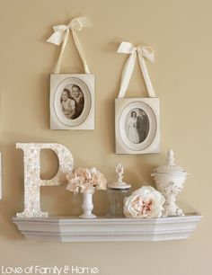 Love Of Family & Home: DIY Button Covered Monogram...