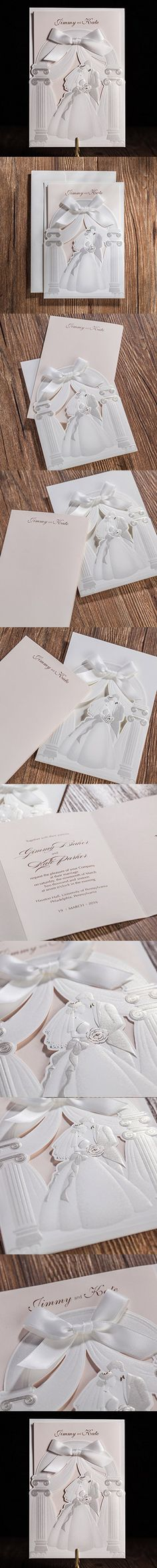 bridal shower invitations free printable templates%0A Wishmade Laser Cut Trifold Embossed Wedding Invitations Cards Kits with  Bride and Groom Patterns Bridal Shower Engagment Birthday Paper Cardstock  with Satin