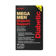 GNC Mega Men Diabetic Support  90 Caplets * Find out more about the great product at the image link.