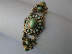 An antique Victorian Austro-Hungarian turquoise bracelet.